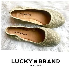 Lucky Brand🌼Nude Patterned Emmie Flats